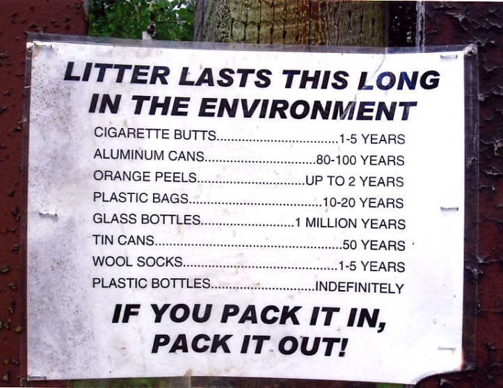 end litter, endlitter, please don't litter, leave no trace, wecologist, wecology, wecology handbook