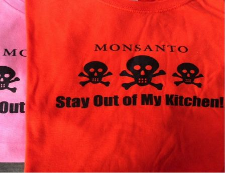 BFMonsanto orange and pink teashirt