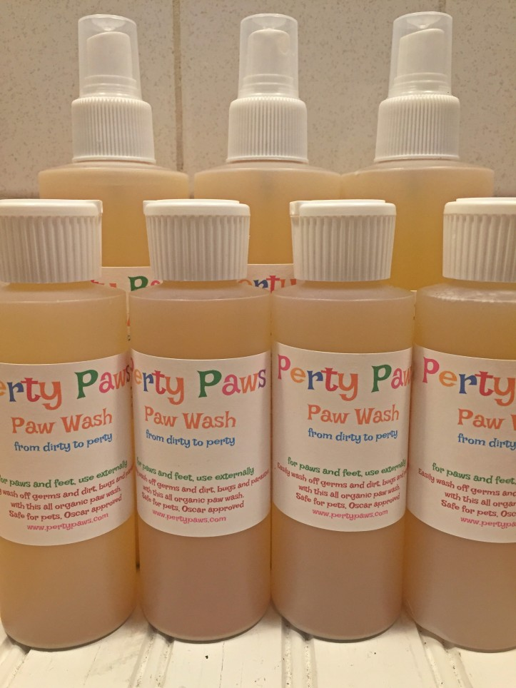 Perty Paws, organic hand sanitizer, paw wash, foot wash, shoe wash