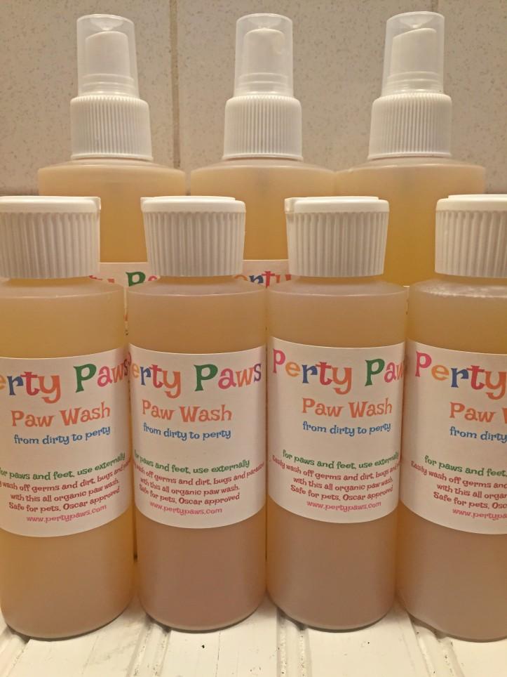 Perty Paws, organic hand sanitizer, paw wash, foot wash, shoe wash